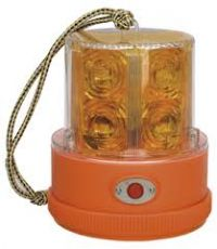 NARVA 85320A LED GLOBE LIGHT BEACON AMBER BATTERY POWERED
