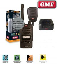 Gme Uhf Radio TX6155 Water Dust Proof 5w  Handheld 80 Channel